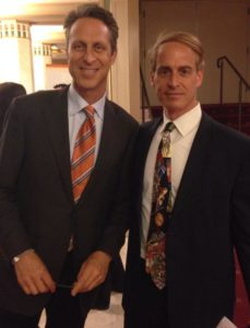 Dr. Mark Hyman with NYC hypnotist and nutritionist Jeffrey Rose
