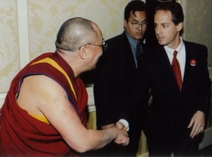 Dalai Lama with NYC hypnotist Jeffrey Rose